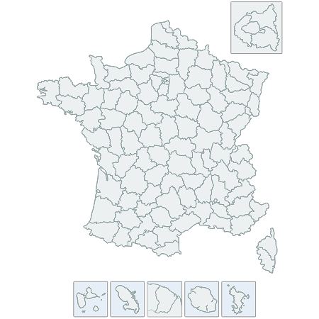 CSSMap - Departments of France