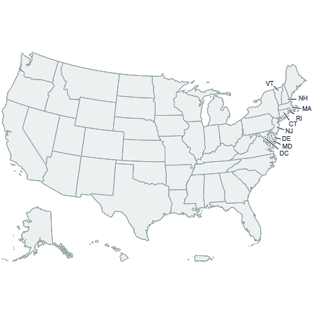 CSSMap - United States of America