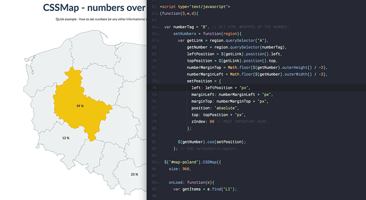CSSMap blog cover - Numbers over the map